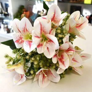 Flor Lírio Com 09 Flores Silicone Tigre - 57436