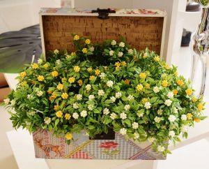 Flor Plástica Com 06 Amora Amarela - 57439