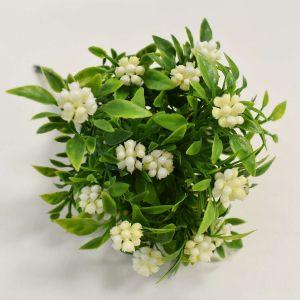 Flor Plástica Com 06 Amora Branca - 57586