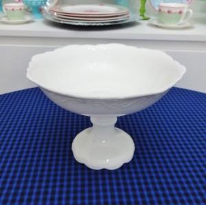 Fruteira 22 cm em porcelana branca 53066