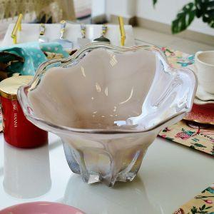 Fruteira Vaso De Murano Furta Cor Em Vidro Branco - 57834