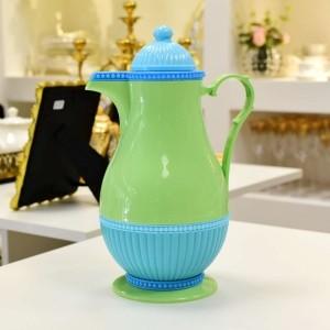 Garrafa Térmica 1L Rice Verde Limão Com Azul (Mod. 14) - 56433