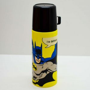 Garrafa Térmica De Inox Com Tampa/Caneca De Plástico Batman - 57724