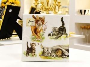 Guardanapo 3333 Cats Family - 56310