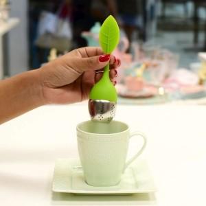 Infusor De Chá Em Silicone Formato de Folha - 53304