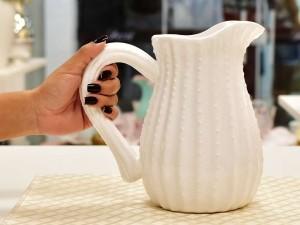 Jarra De Cerâmica Branca - 55729