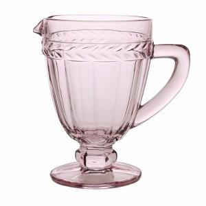 Jarra em vidro de 1 litro na cor rosa 53458