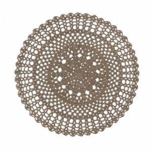 Sousplat Circular Crochet Amêndoa  - 53118