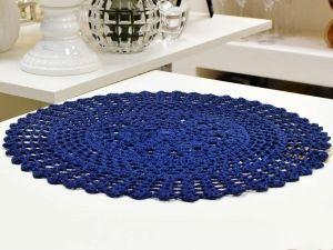 Sousplat Circular Crochet Marinho - 53117