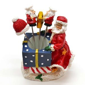 Jogo Com 04 Garfinhos Para Petisco E Suporte Presente Noel Natal - 55534