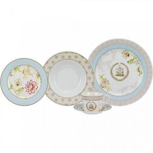 Jogo De Jantar Em Porcelana Multicor 30 Peças Redondo - 57234