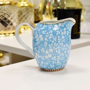 Leiteira Jarrinha Azul Floral Pip Studio - 52754