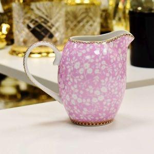 Leiteira Jarrinha Rosa Floral Pip Studio - 52756