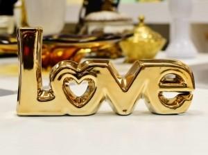 Letreiro Decorativo Love Em Cerâmica Cobre - 56479