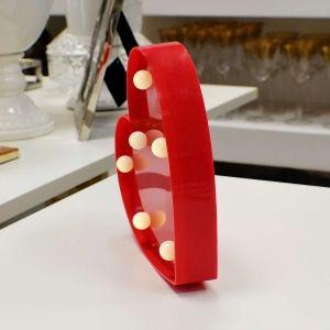 Luminária De Plástico Coração Vermelho - 56642