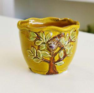 Mini Vaso Árvore Mostarda - 57158