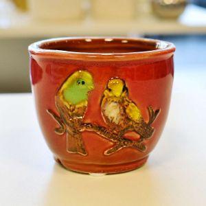 Mini Vaso Pássaro Vermelho - 57163