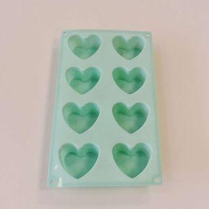 Molde Em Silicone Coração Verde - 57356