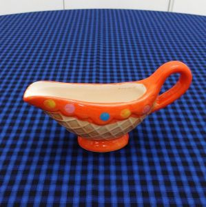 Molheira Sorvete Cupcake Laranja - 52989