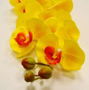 Orquídea Toque Real Com 09 Flores 3D Amerela - 56842