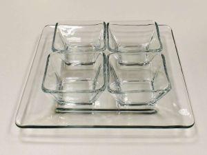Petisqueiras De Vidro 05 Peças Transparente - 56933