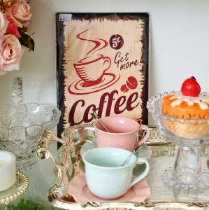 Placa Decorativa De Madeira Coffee Retro - 57534