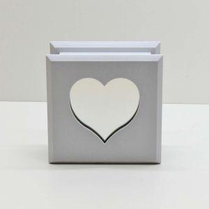 Porta Joias De Coração Grande Branco - 57579