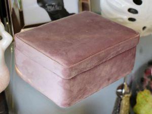 Porta Joias De Veludo Rosa E Tecido - 57828