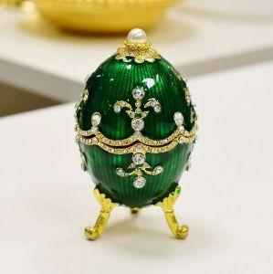 Porta Joias De Zamac Ovo Farbege Royal Verde - 56999