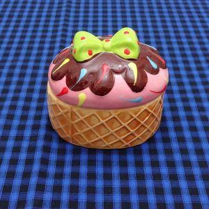 Porta Patê Sorvete Cupcake Rosa - 52994