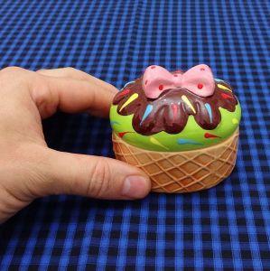 Porta Patê Sorvete Cupcake Verde - 52994