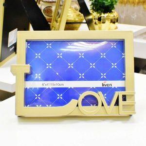 Porta Retrato 10X15 Love Dourado - 56621
