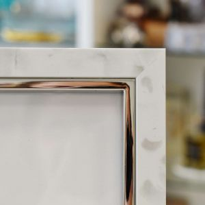 Porta Retrato 10x15cm Alegra Branco Acinzentado - 57254