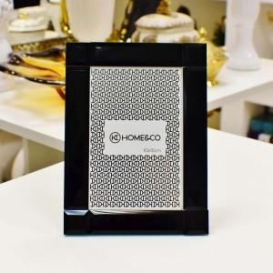 Porta Retrato 10x15cm Creta De Vidro Preto Espelhado - 56472