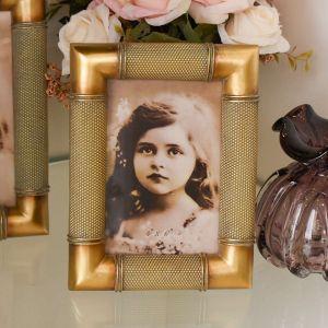 Porta Retrato 10x15cm De Resina E Madeira Envelhecida - 58291