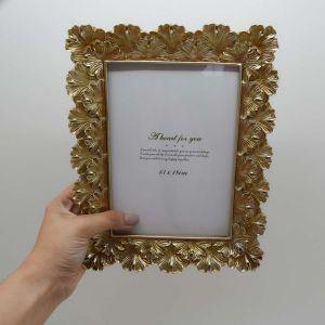 Porta Retrato 10x15cm Dourado Envelhecido Lummy - 58253