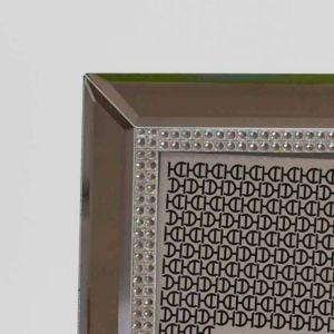 Porta Retrato 10x15cm Espelhado Crystal Em Vidro - 58351