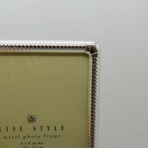 Porta Retrato 10x15cm Prata Em Metal Lize - 58342