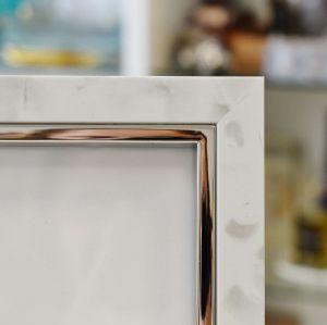 Porta Retrato 13x18cm Alegra Branco Acinzentado - 57255