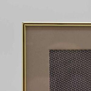Porta Retrato 13x18cm Branco Com Dourado Window Metal - 58349