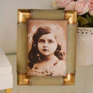 Porta Retrato 13x18cm De Resina E Madeira Envelhecida - 58290