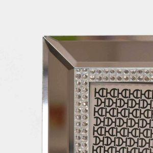 Porta Retrato 13x18cm Espelhado Crystal Em Vidro - 58350