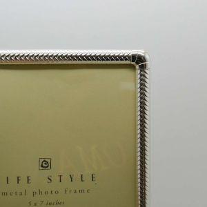 Porta Retrato 13x18cm Prata Em Metal - 58341