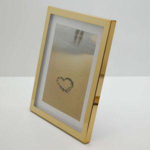 Porta Retrato 15x20cm Dourado Doherty Em Metal - 58339
