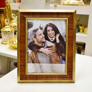 Porta Retrato 15x21cm Chanfrando Dourado  - 57006