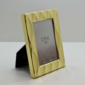 Porta Retrato De Aço Diamond Dourado 10x15cm - 58171