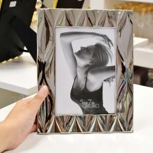 Porta Retrato De Aço Niquelado Diamond 13X18CM - 56287