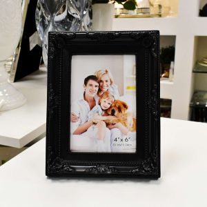 Porta Retrato De Plástico 10x15cm Retro Preto -  56726