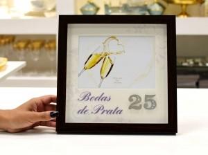 Porta Retrato De Plástico Bodas De Prata 13x18cm - 56358