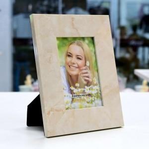 Porta Retrato de Plástico Mármore Bege 10x15 - 55484